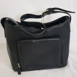 Coach genuine leather black bag